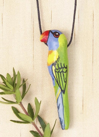 Songbird Whistle Necklace - Rainbow Lorikeet