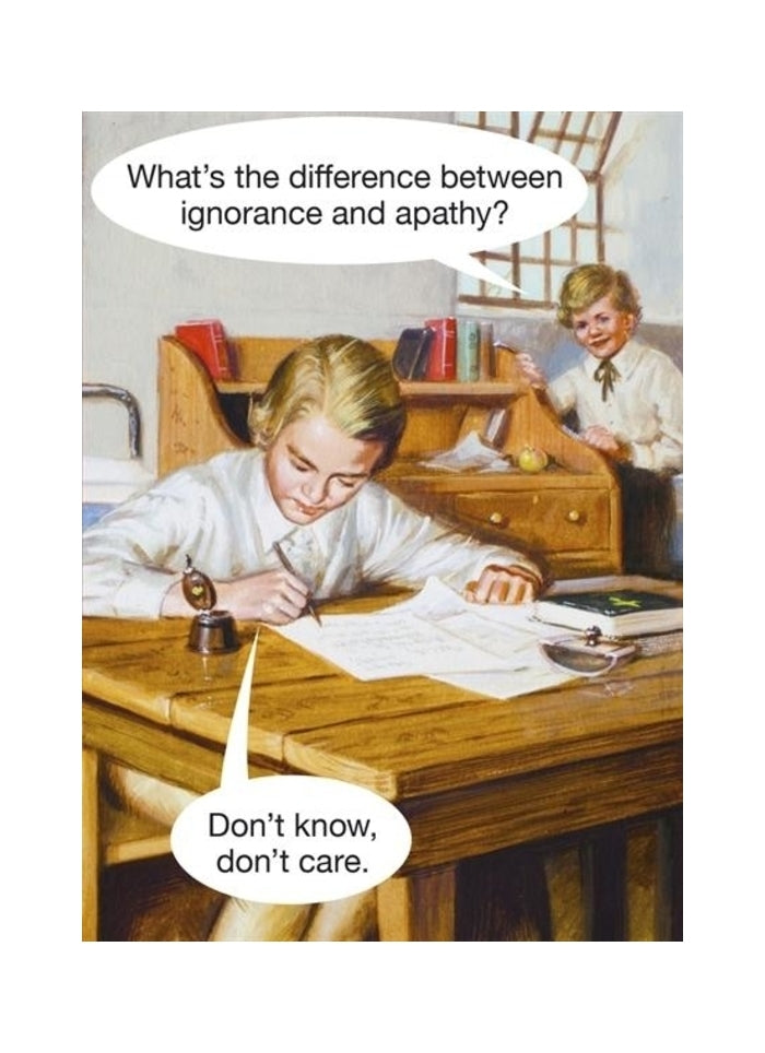 Ladybird card - the difference between ignorance and apathy