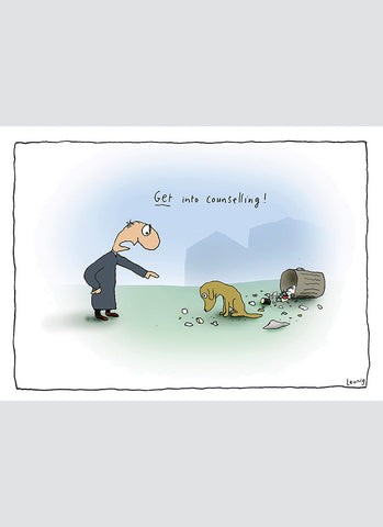 Leunig cartoon card - Counselling