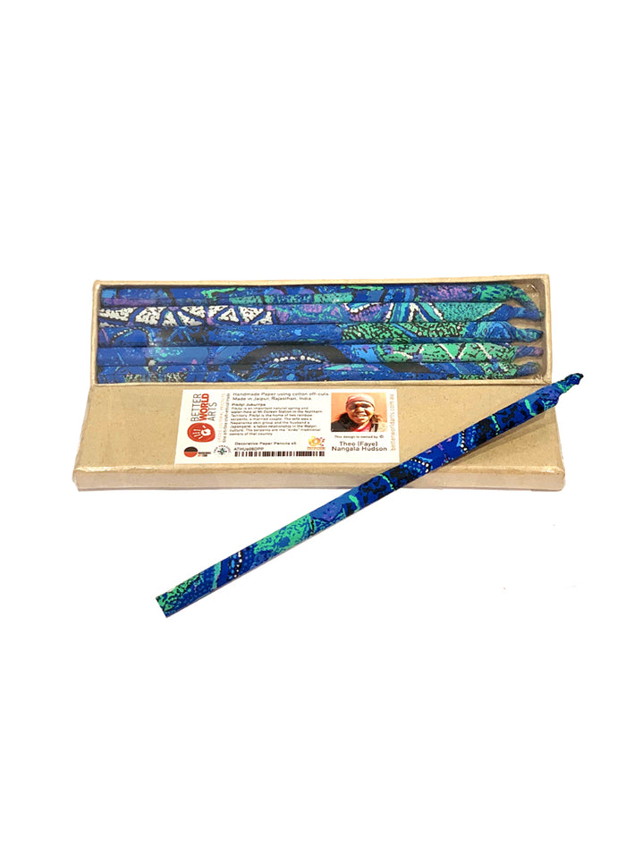 Decorative Paper Pencil Pack - Theo Hudson