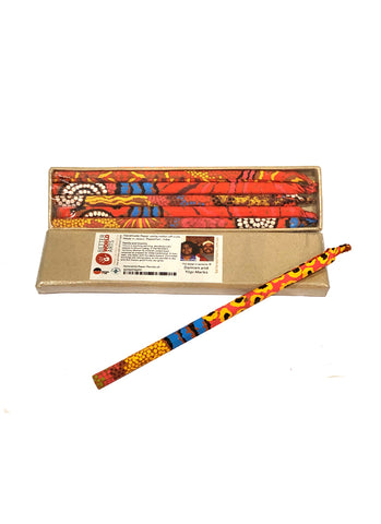 Decorative Paper Pencil Pack - Damien and Yilpi Marks (975)