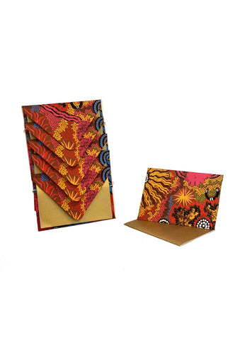 Better World Arts Handmade Envelope & Gift Card Pack - Damien & Yilpi Marks (975)