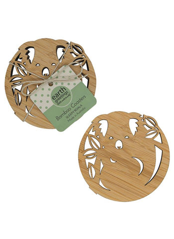 Bamboo Coasters - Sleepy Koala (set of four)