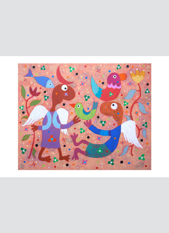 Leunig art card - Two Angels