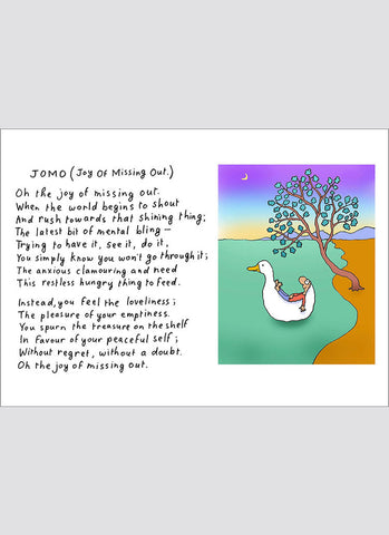 Leunig cartoon card - JOMO