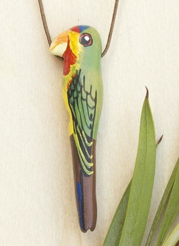 Songbird Whistle Necklace - Swift Parrot