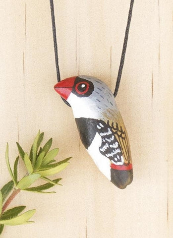 Songbird Whistle Necklace - Diamond Firetail