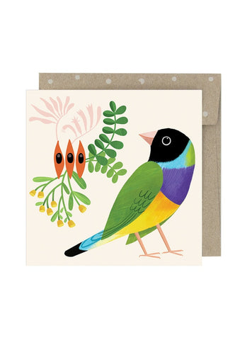 Negin Maddock small card - Desert Finch