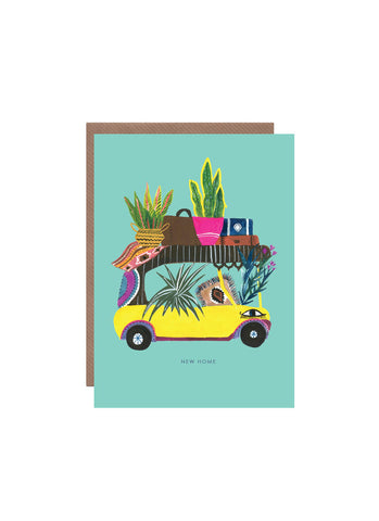Hutch Cassidy greeting card - Tuk Tuk New Home