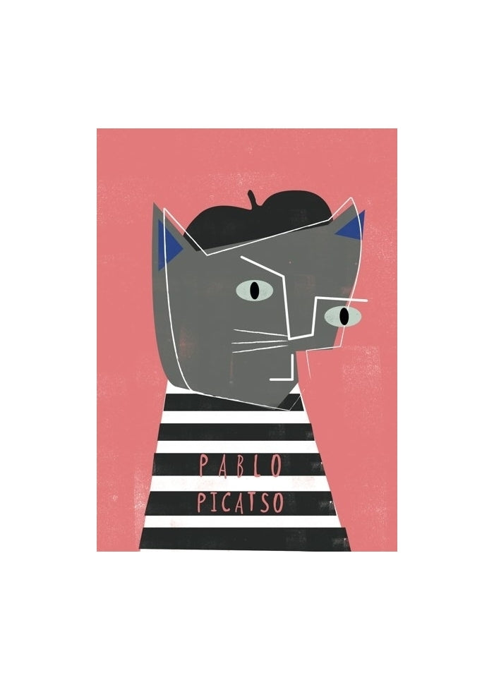 Niaski - Pablo Picatso Cat Art Card