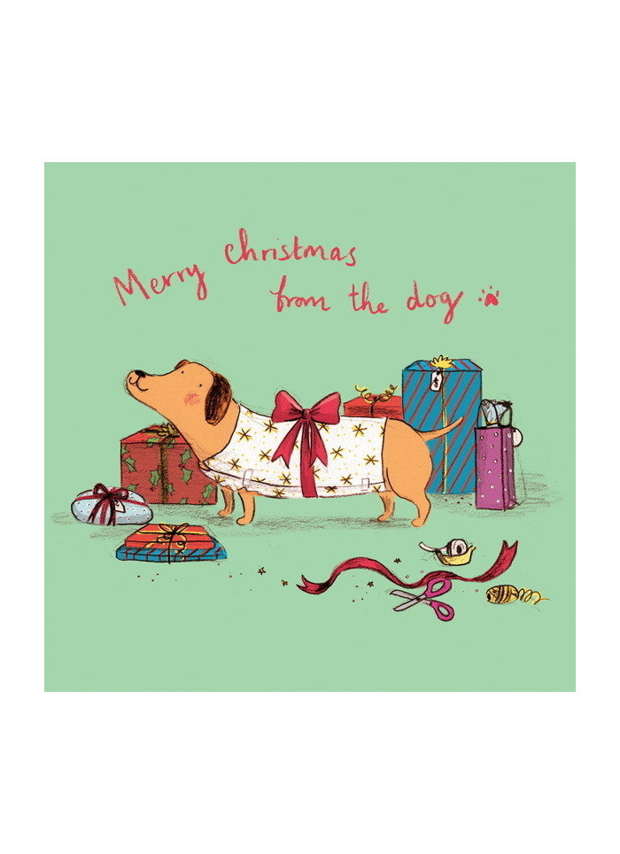 Ohh Deer Christmas Card - From the Dog