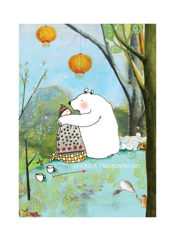 Sacredbee greeting card - Bear Love