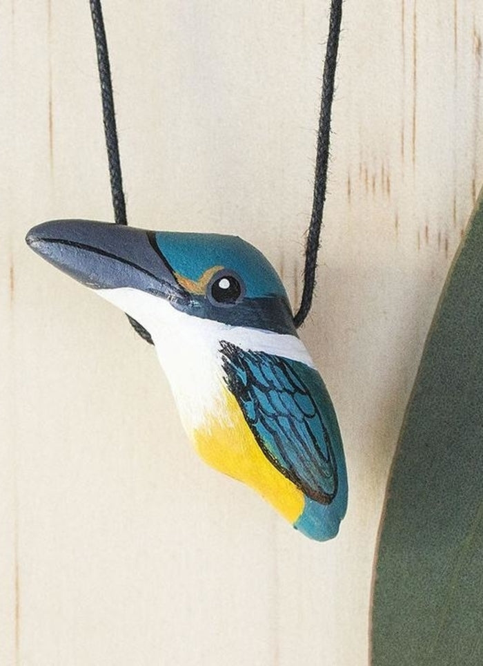 Songbird Whistle Necklace - Sacred Kingfisher