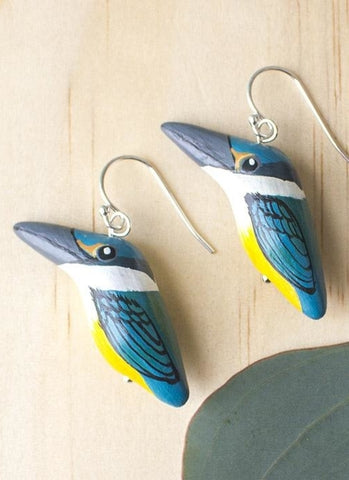Songbird Earrings - Sacred Kingfisher