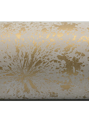 Wrapping Paper Roll - Colour Splash Gold on White