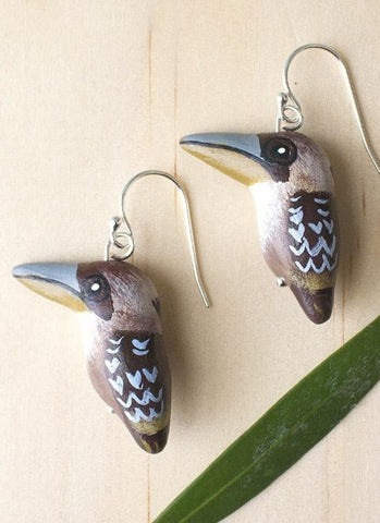 Songbird Earrings - Laughing Kookaburra