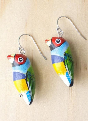 Songbird Earrings - Gouldian Finch