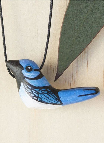 Songbird Whistle Necklace - Superb Fairy Wren