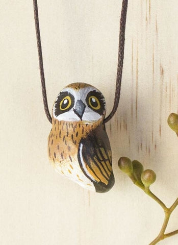 Songbird Whistle Necklace - Boobook Owl