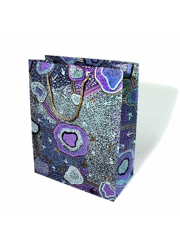 Better World Arts Handmade Paper Large Gift Bag - Pauline Nampijinpa Singelton
