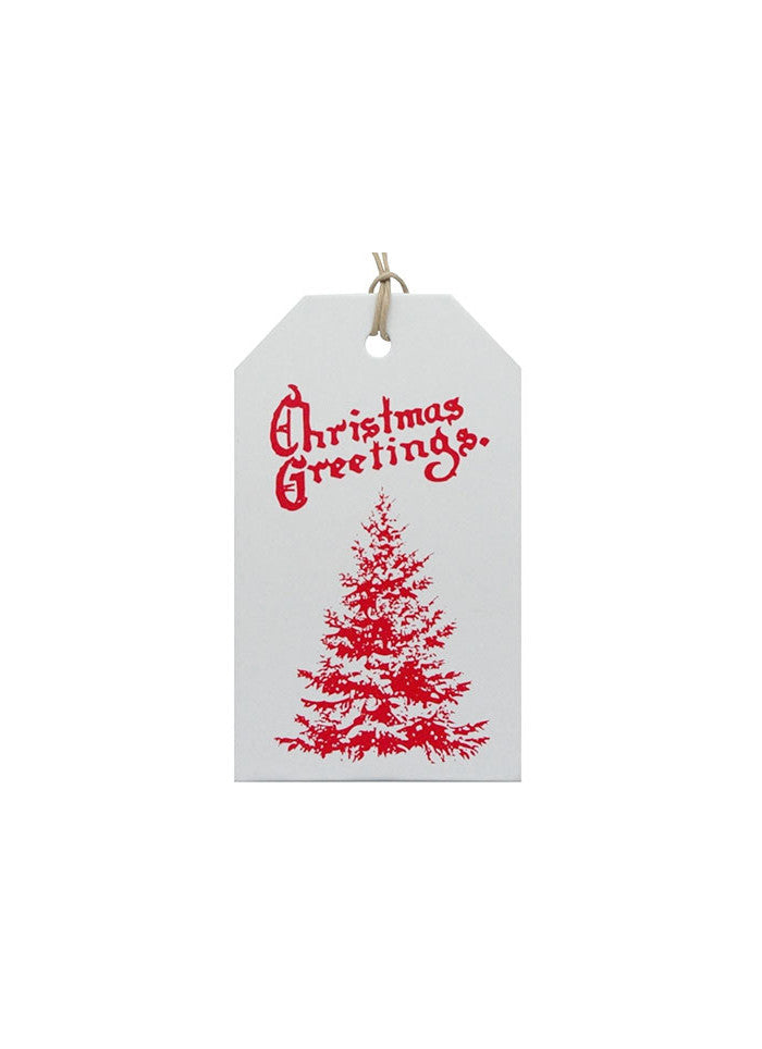 Christmas Gift Tag - Red Tree Luggage Tag