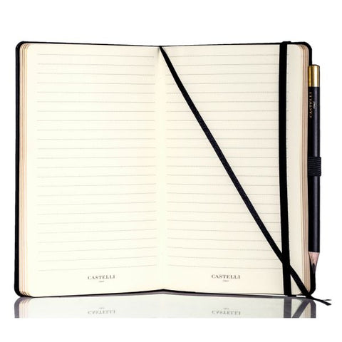 Stripes Notebook - Black & Gold