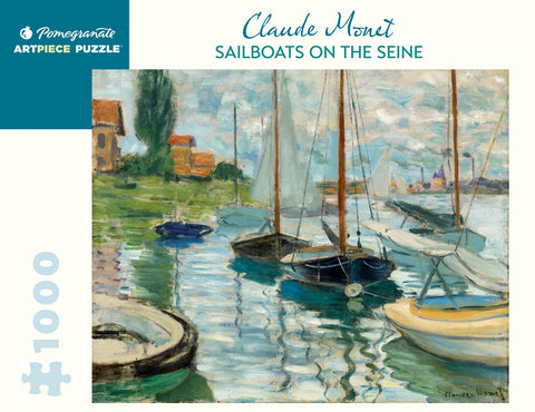 Monet: Sailboats on the Seine 1000 Piece Puzzle