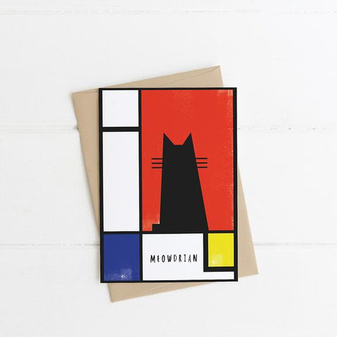 Niaski - Meowdrian Cat Art Card