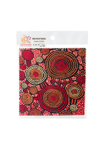Microfibre Lens Cloth Aboriginal Designs  # 6 - Teddy Gibson