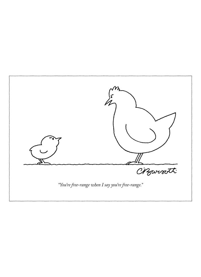 New Yorker Cartoon Card - Free Range