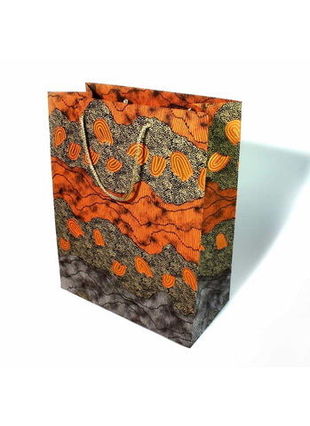 Better World Arts Handmade Paper Gift Bag - Damien and Yilpi Marks