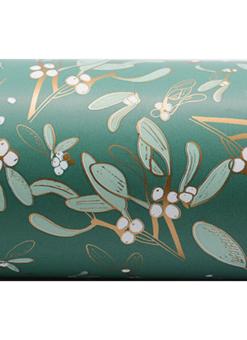 Wrapping Paper Roll - Australian Foliage Sage/ Gold