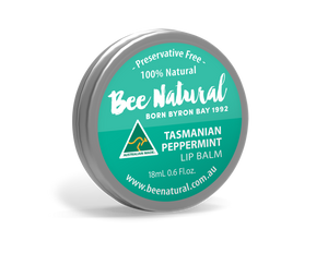 NEW LARGER TIN! Peppermint LIP BALM 18mL