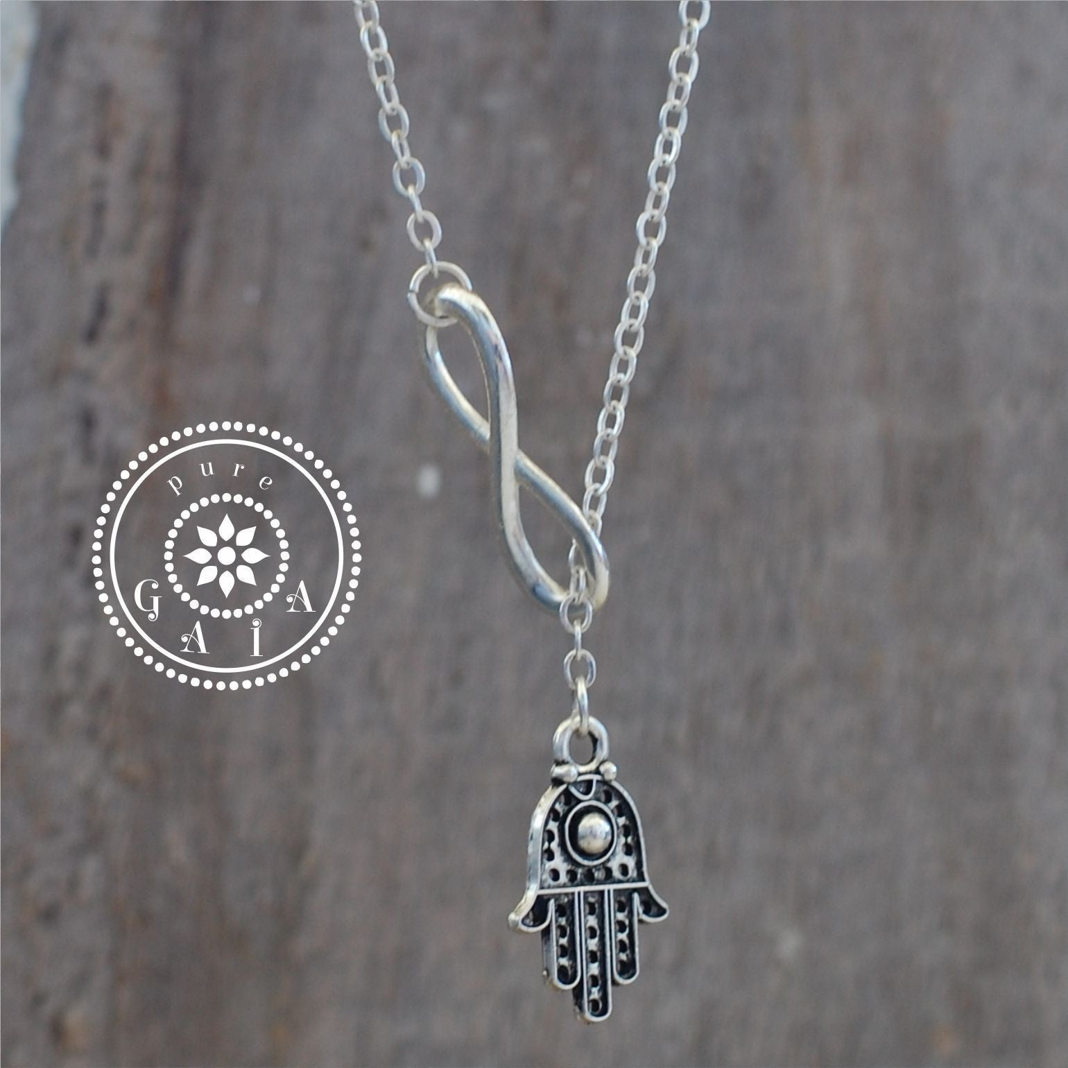 Infinity fatima hamsa hand pendants necklace ethnic xox pure gaia infinity fatima hamsa hand pendants necklace ethnic xox mozeypictures Image collections
