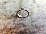 Hammered texture ring