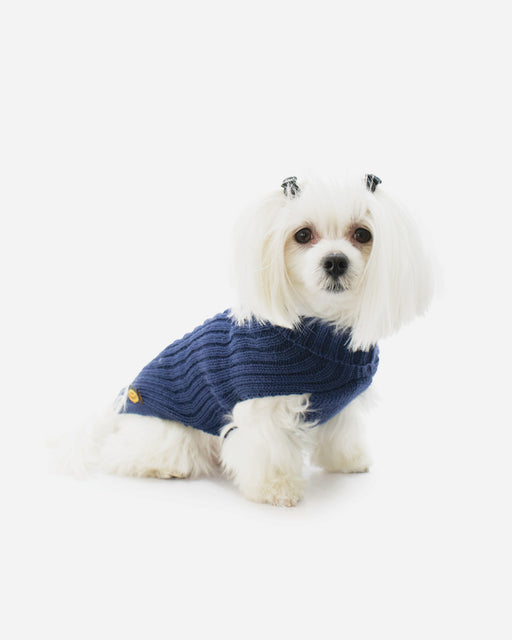 Blå strikket Sweater fra Fashion Dog (art.303)