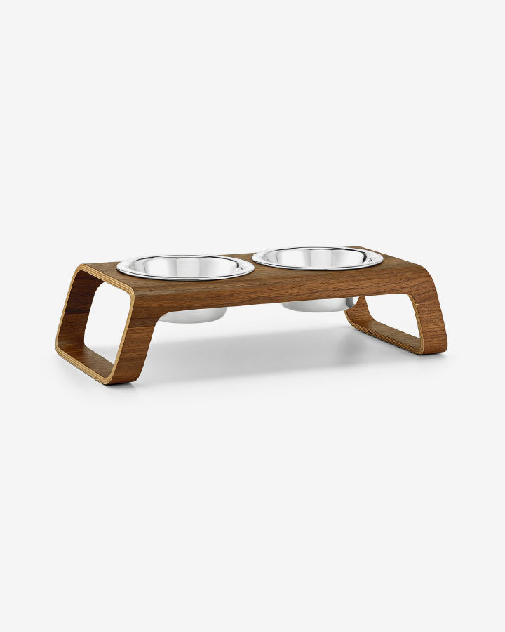 Image of   DESCO - Ash Wood Walnut - DogFeeder fra MiaCara - Valnød Small