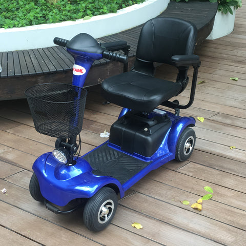 Brand New Akame 4-Wheel Mobility Scooter (Blue)