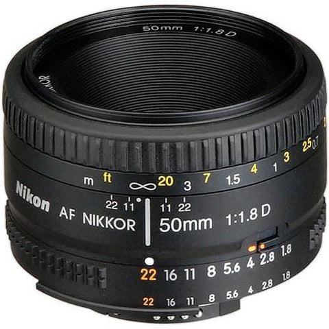 Nikon AF Nikkor 50mm f/1.8D Autofocus Lens for Nikon DSLR Digital Camera