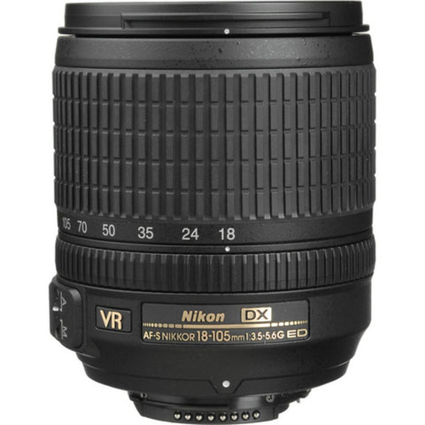 Nikon 18-105mm f/3.5-5.6 G ED VR AF-S DX Nikkor Lens (White Box)