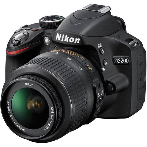 Nikon D3200 Digital SLR Camera With 18-55mm Kit Lens (Japanese Version)