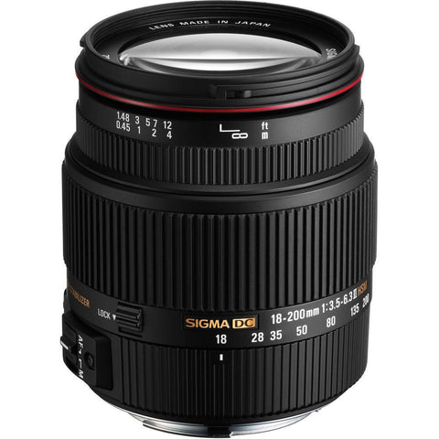 Sigma 18-200mm f/3.5-6.3 DC OS HSM Lens Mark II