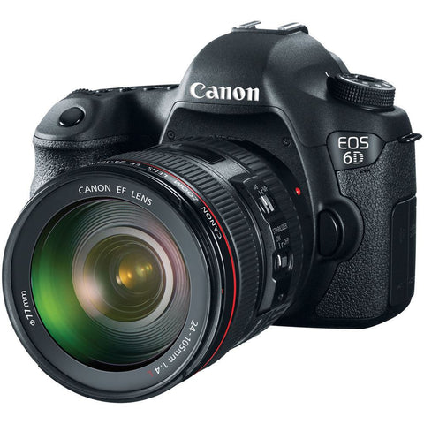 Canon EOS 6D 20.2 MP Camera with 24-105mm f/4.0L IS USM Lens Multi Language