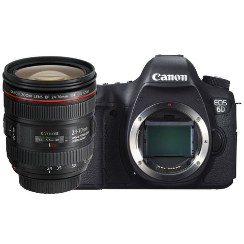 Canon EOS 6D 20.2 MP Camera with 24-70mm F4 L IS USM Multi Language