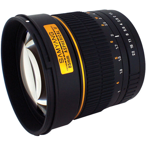 Samyang 85mm f/1.4 Aspherical Lens With Focus Confirm Chip