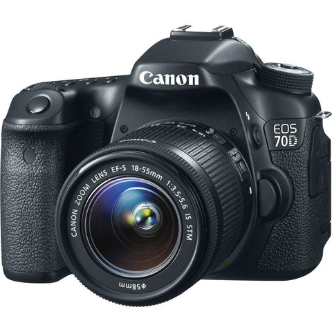 Canon EOS 70D 20.2 MP DSLR Camera with 18-55mm STM f/3.5-5.6 Lens