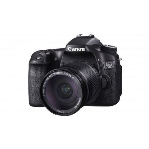 Canon EOS 70D 20.2 MP DSLR Camera Kit with Canon EF-S 18-200mm IS Lens Kit