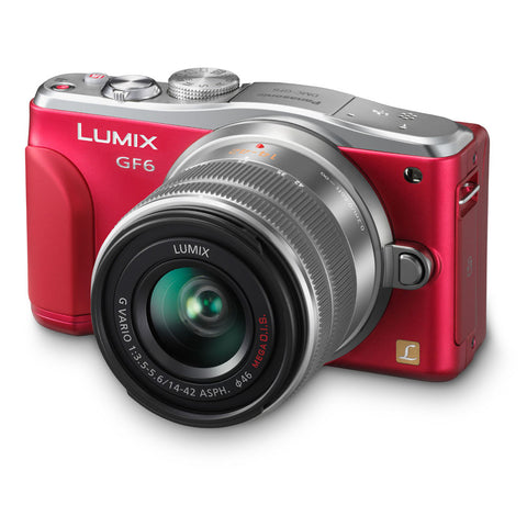 Panasonic Lumix DMC-GF6 16 MP Camera with 14-42mm f/3.5-5.6 II Lens Kit