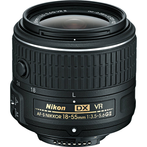 Nikon 18-55mm f/3.5-5.6 G VR II AF-S DX Nikkor Lens (No Packing)