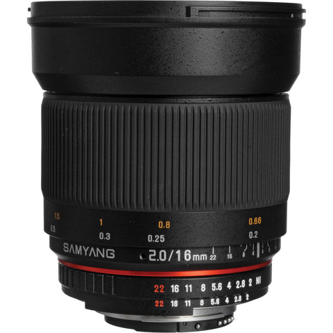 Samyang 16mm f/2.0 ED AS UMC CS Lens With AE Chip for